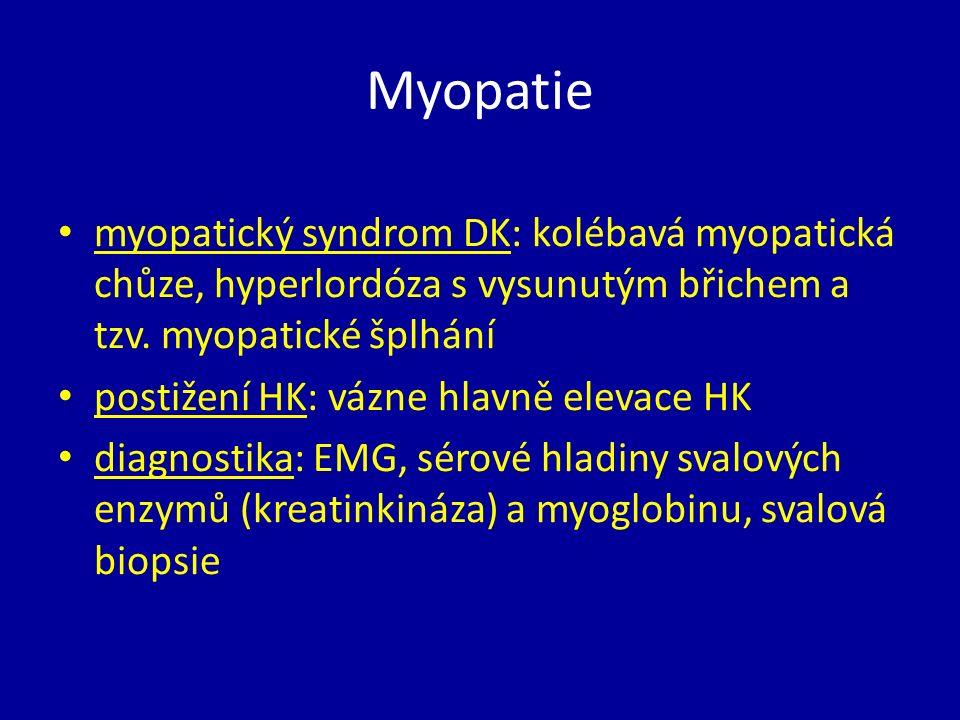 Progresivní svalové dystrofie geneticky podmíněné choroby kosterních svalů progredující, zpravidla symetrický myopatický syndrom postižení hlavně pletencový svalů nejsou poruchy citlivosti