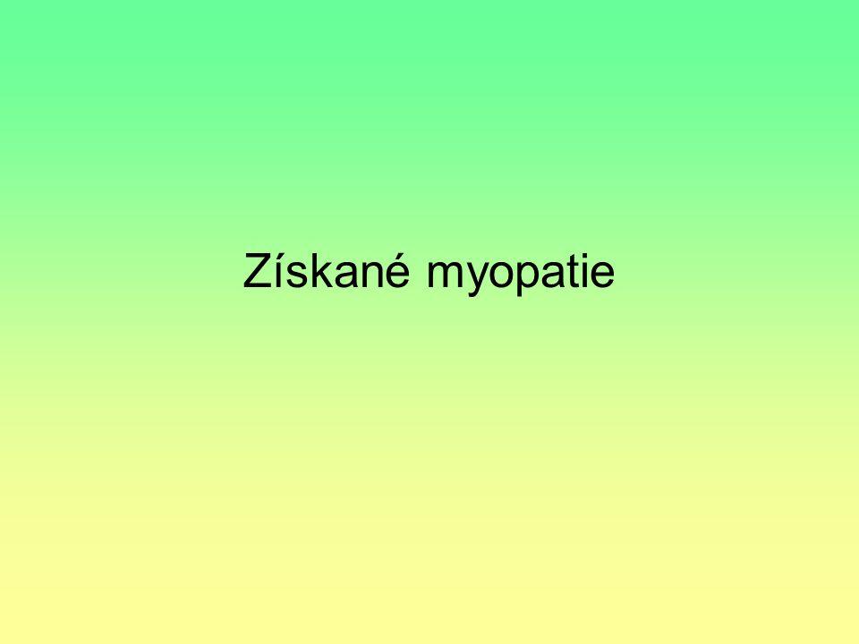 Získané myopatie