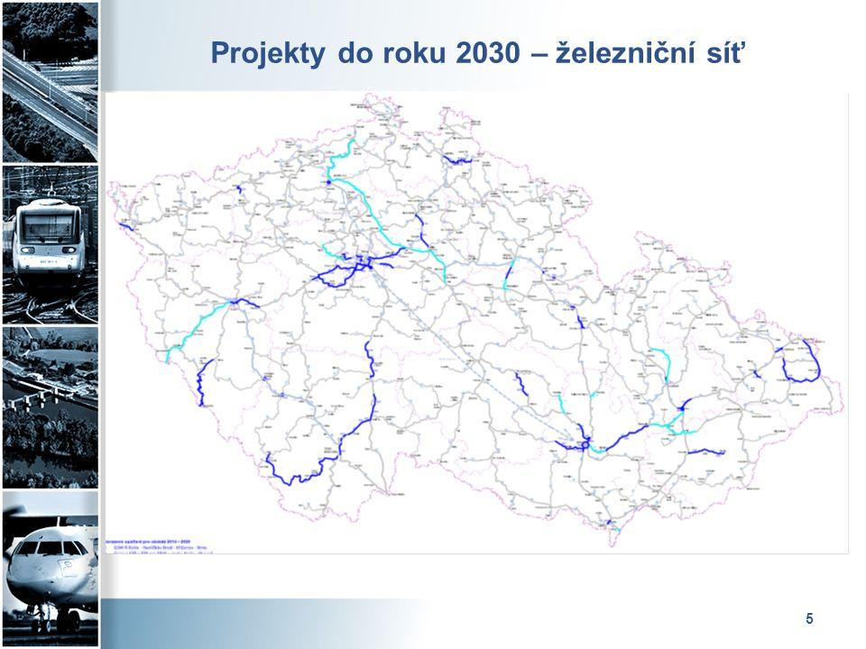 5 Projekty do roku 2030 – železniční síť