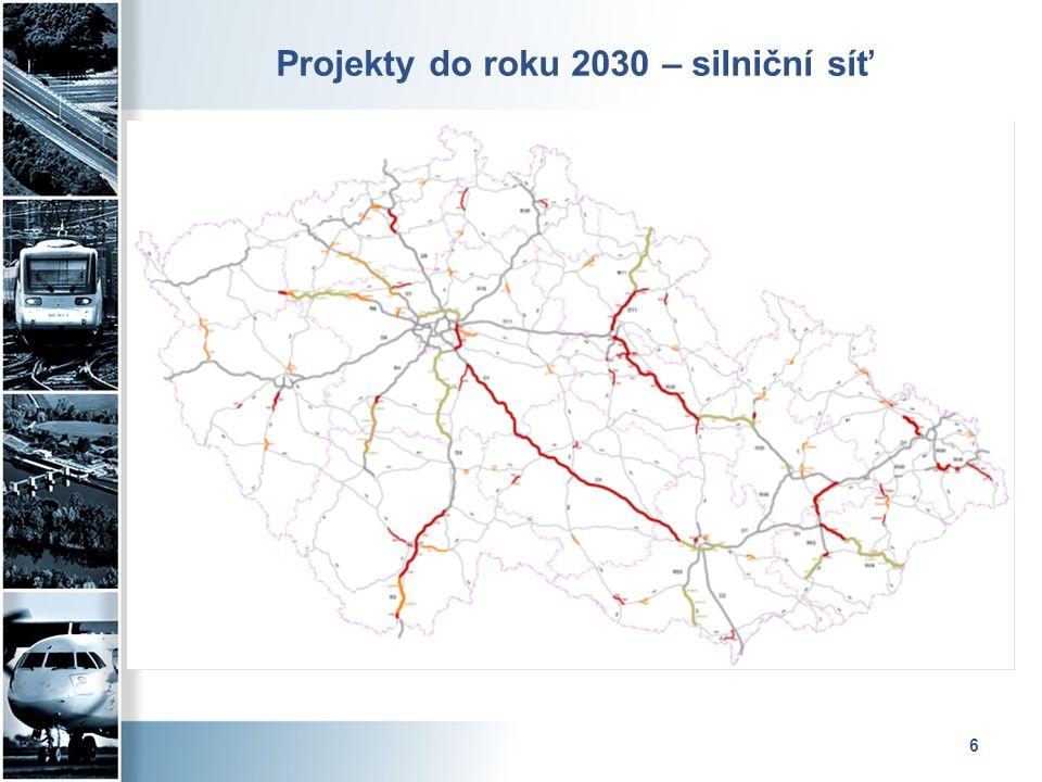 6 Projekty do roku 2030 – silniční síť