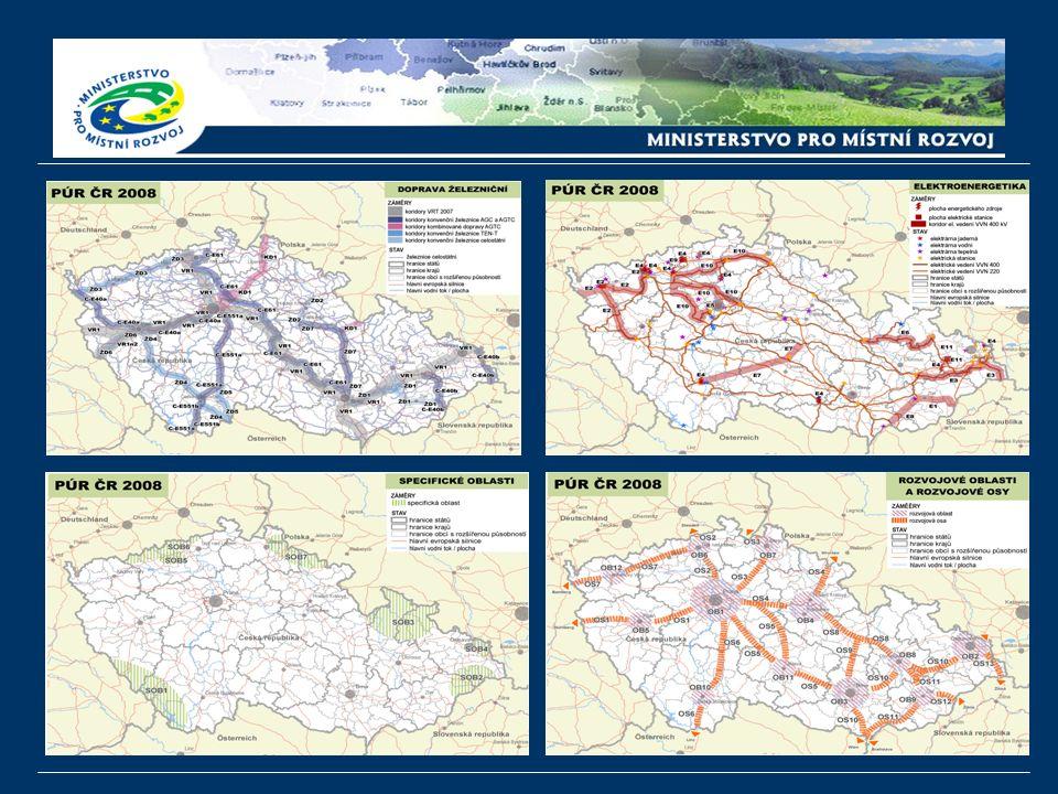 MMR nyní obdrželo cca 1100 připomínek Připomínky se týkají zejména vymezení koridorů dopravní infrastruktury a ploch technické infrastruktury: koridory kapacitních silnic: R35 [čl.