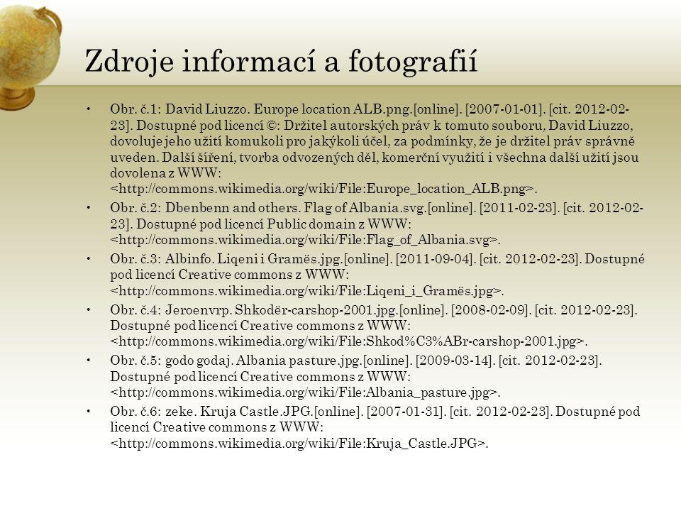 Zdroje informací a fotografií Obr. č.1: David Liuzzo.