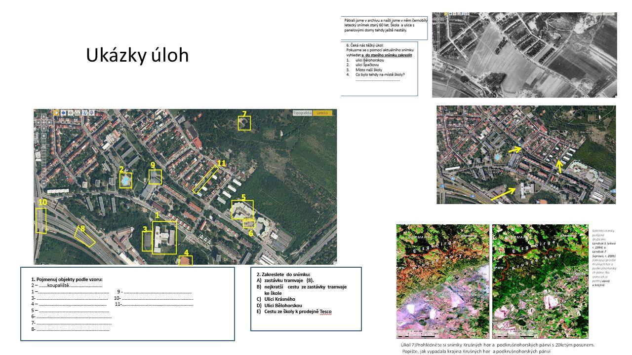 Subjektivní hodnocení obtížnosti čtení leteckých snímků a mapy.