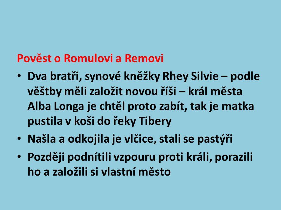 Vypukl mezi nimi spor po kom se bude město jmenovat – zvítězil Romulus, bratra v boji zabil a město pojmenoval po sobě – Roma.
