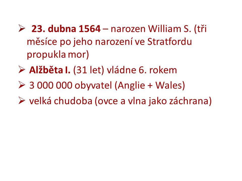  23. dubna 1564 – narozen William S.
