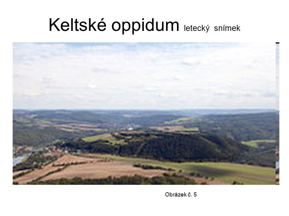 Keltské oppidum letecký snímek Obrázek č. 5