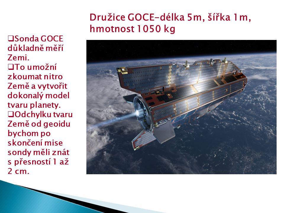 Sonda GOCE důkladně měří Zemi.