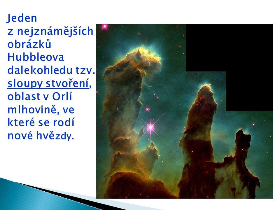 Jeden z nejznámějších obrázků Hubbleova dalekohledu tzv.