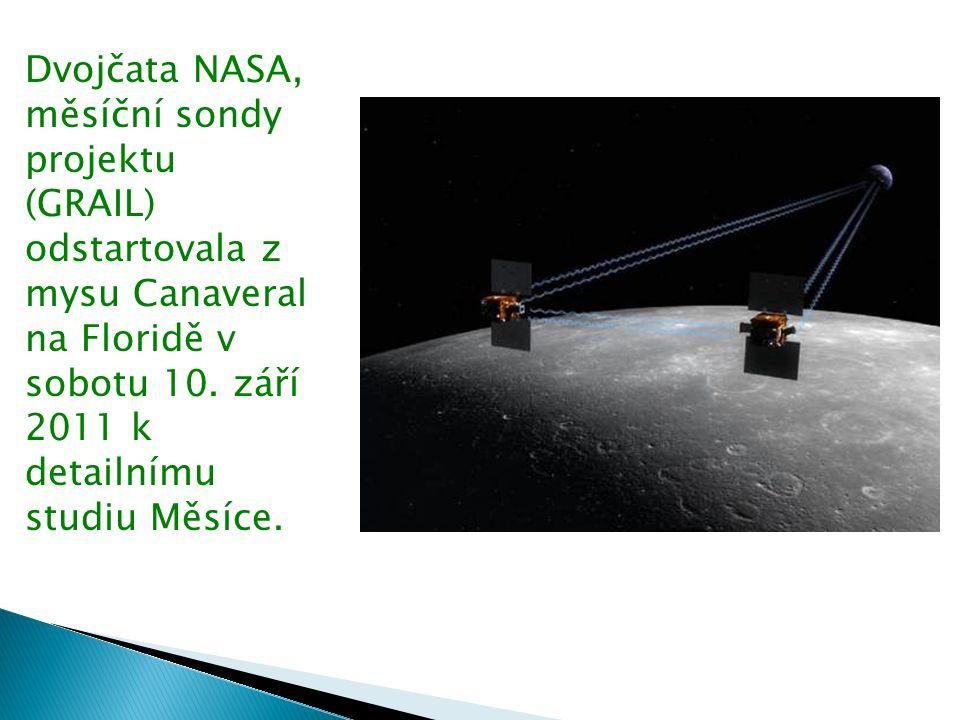 Dvojčata NASA, měsíční sondy projektu (GRAIL) odstartovala z mysu Canaveral na Floridě v sobotu 10.