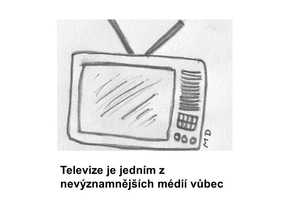 Televize je jedním z nevýznamnějších médií vůbec