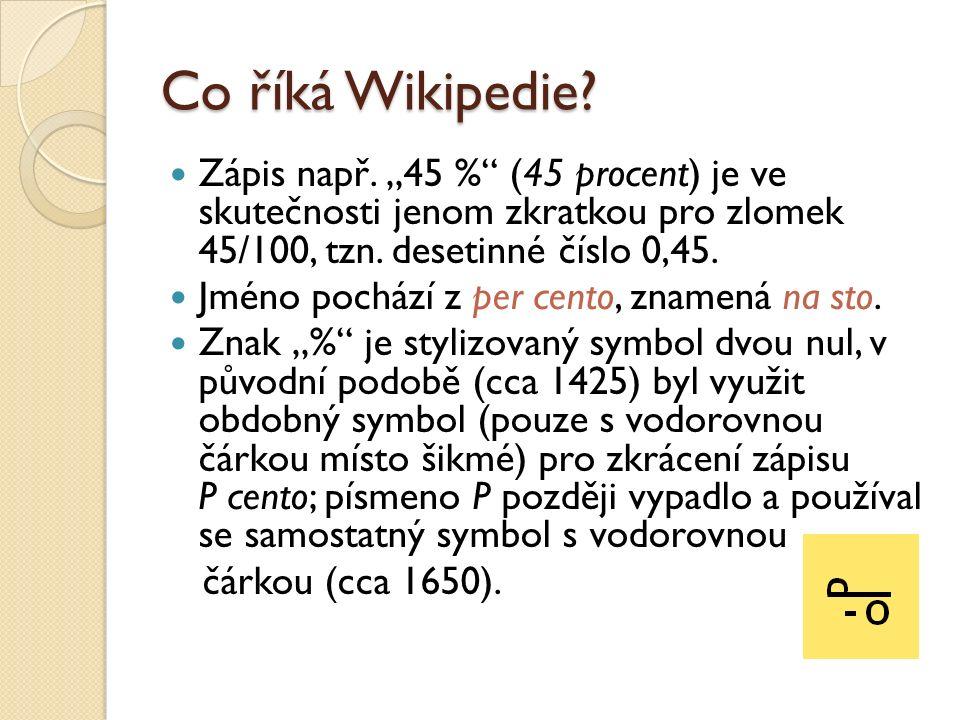 Co říká Wikipedie. Zápis např.