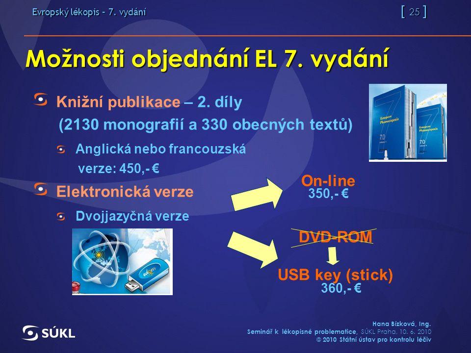 Evropský lékopis – 7. vydání [ 25 ] Hana Bízková, Ing.