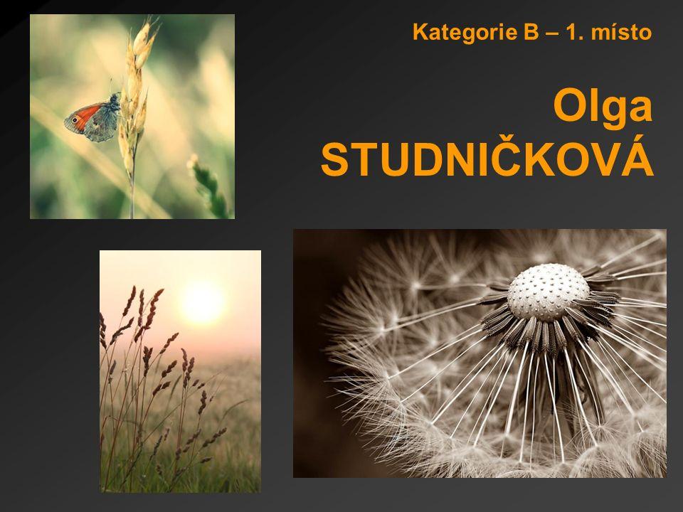 Kategorie B – 1. místo Olga STUDNIČKOVÁ
