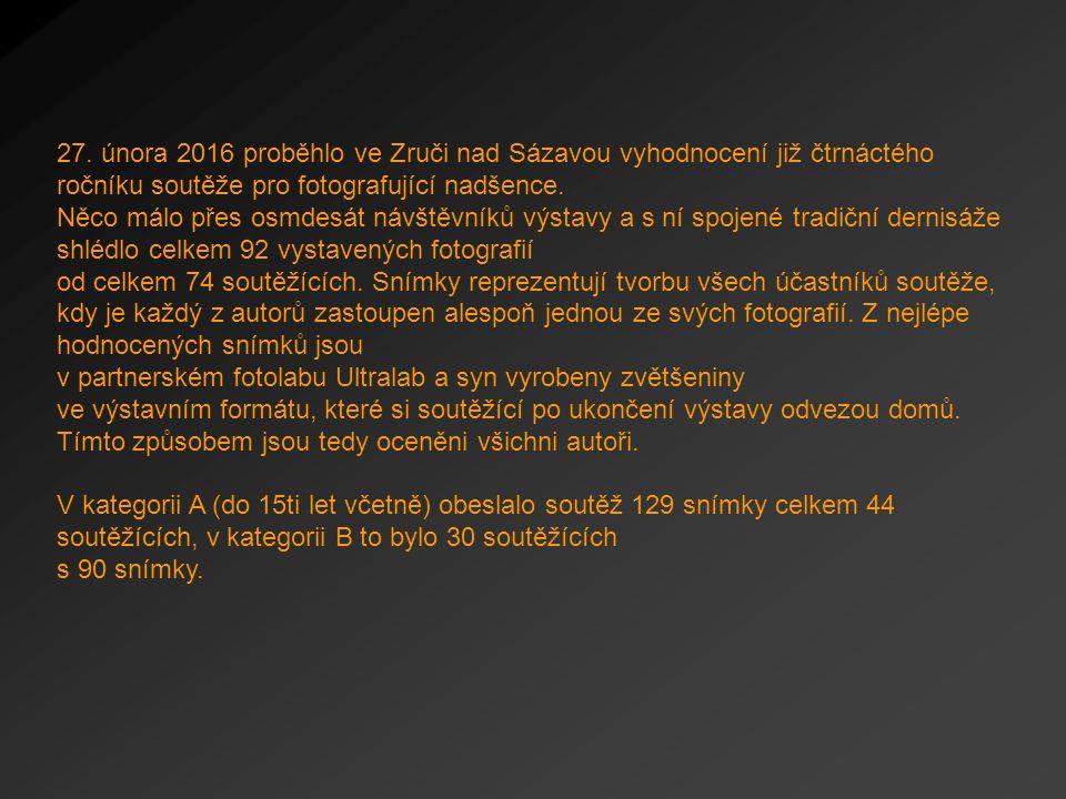 27. února 2016 proběhlo ve Zruči nad Sázavou vyhodnocení již čtrnáctého ročníku soutěže pro fotografující nadšence. Něco málo přes osmdesát návštěvník