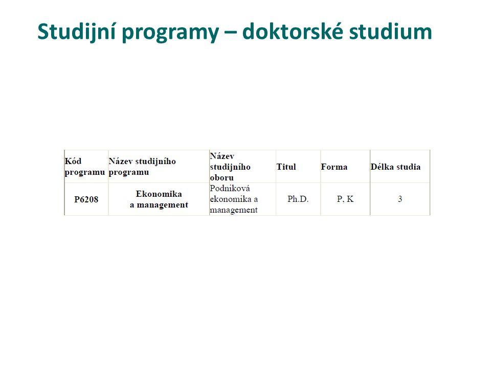 Studijní programy – doktorské studium