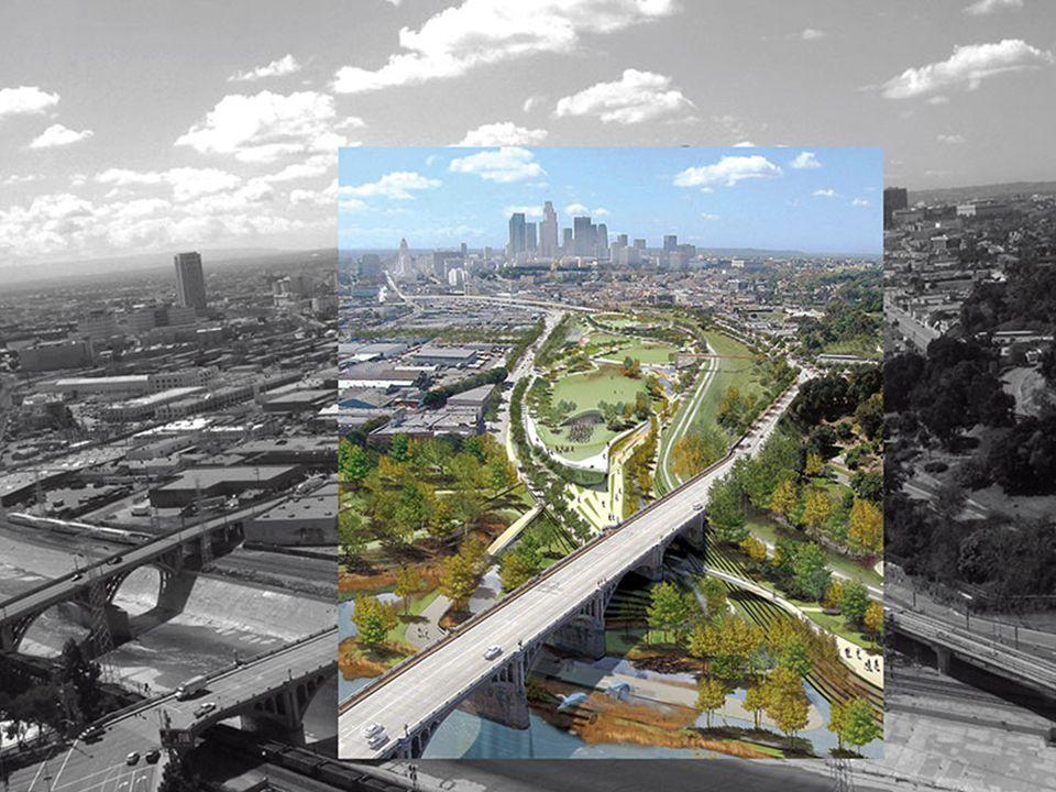 AURARIA CAMPUS AND LAWRENCE STREET MALL cílem bylo snížit dopravu pro lepší průchodnost parkoviště, dopravní infrastruktura byla přemístěna – klade se důraz na shromáždění – vytvoření veřejného p.