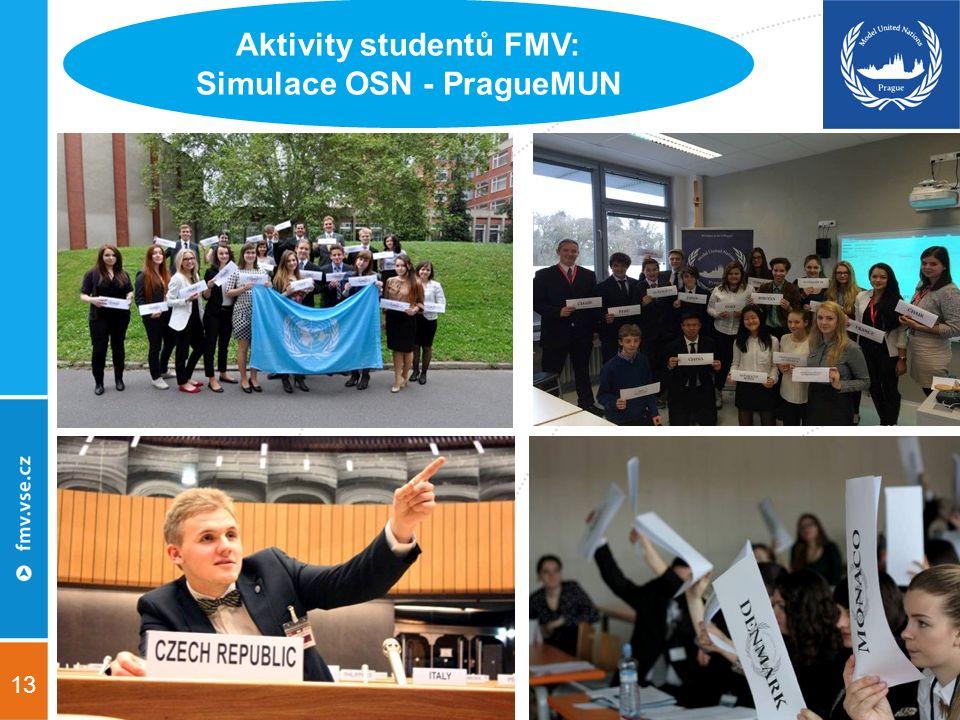 13 Aktivity studentů FMV: Simulace OSN - PragueMUN