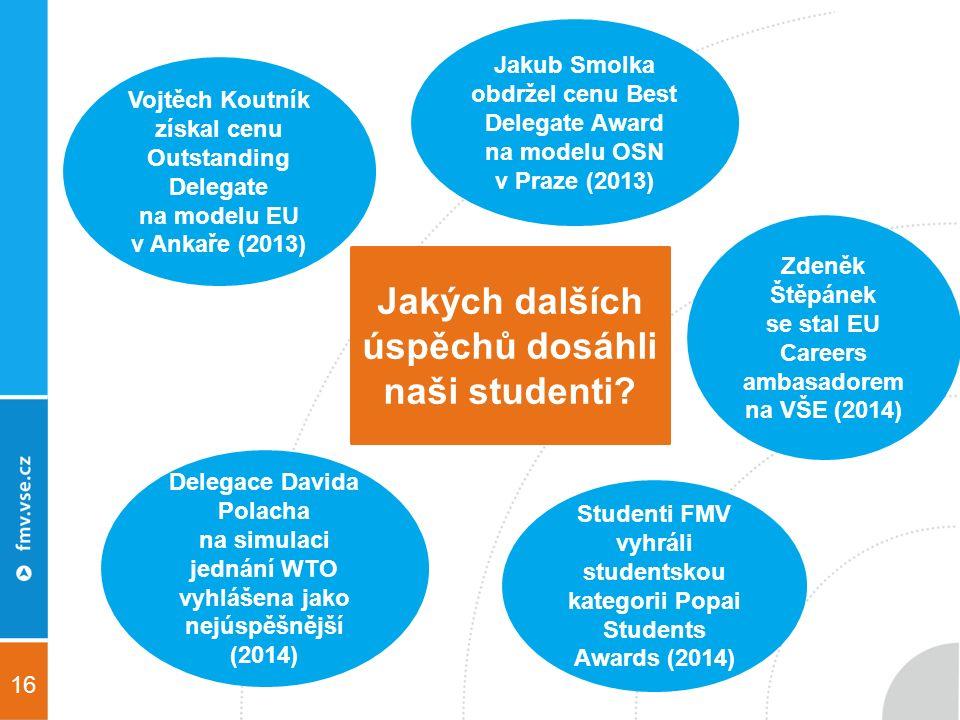 16 Jakých dalších úspěchů dosáhli naši studenti.