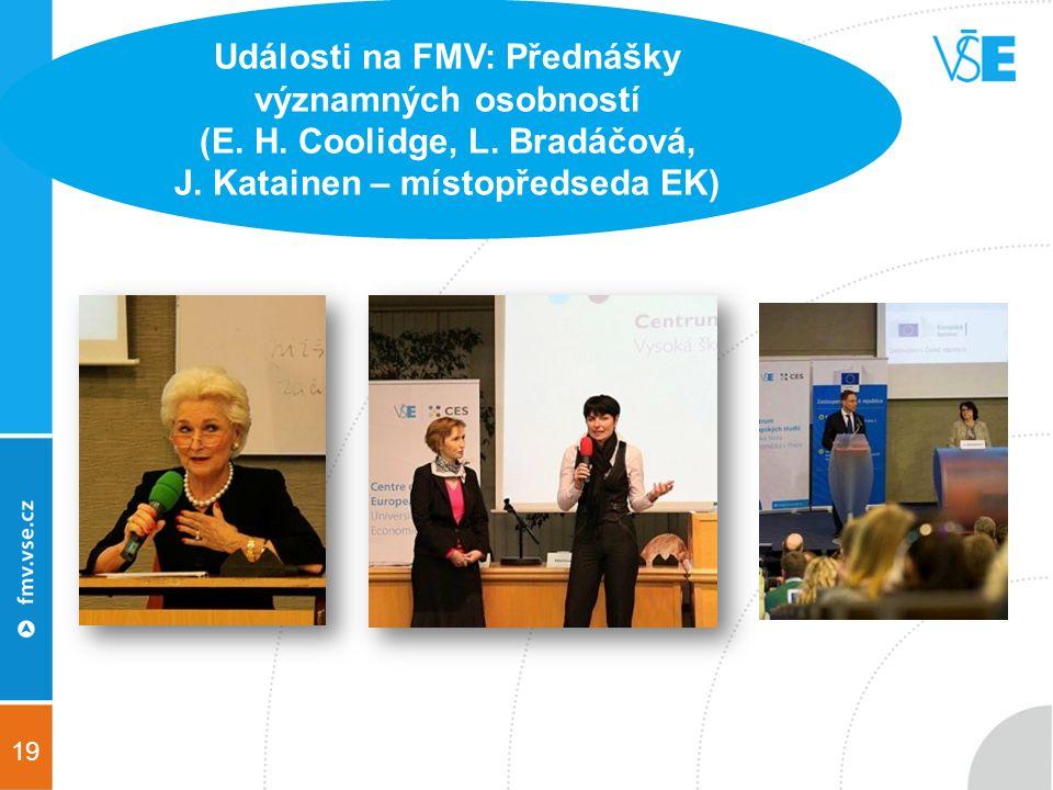 19 Události na FMV: Přednášky významných osobností (E.
