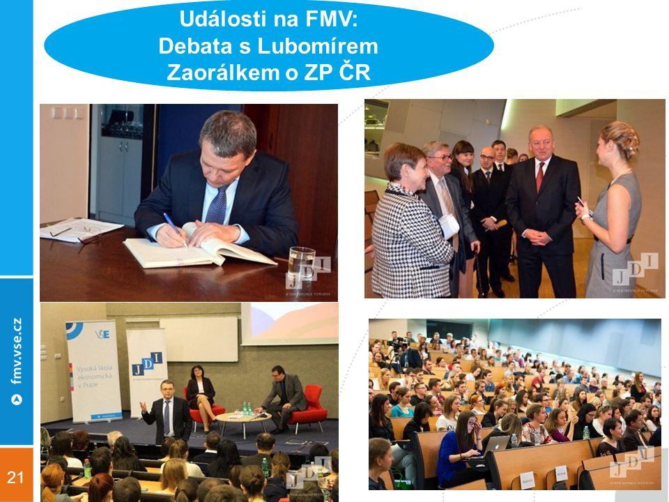21 Události na FMV: Debata s Lubomírem Zaorálkem o ZP ČR