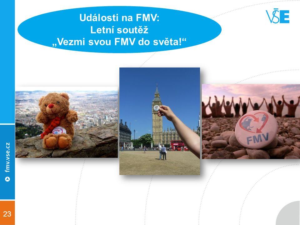 """23 Události na FMV: Letní soutěž """"Vezmi svou FMV do světa!"""