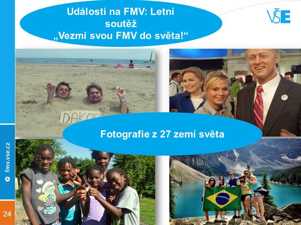 """24 Události na FMV: Letní soutěž """"Vezmi svou FMV do světa! Fotografie z 27 zemí světa"""