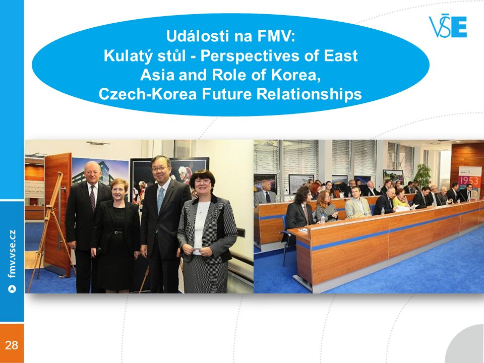 28 Události na FMV: Kulatý stůl - Perspectives of East Asia and Role of Korea, Czech-Korea Future Relationships