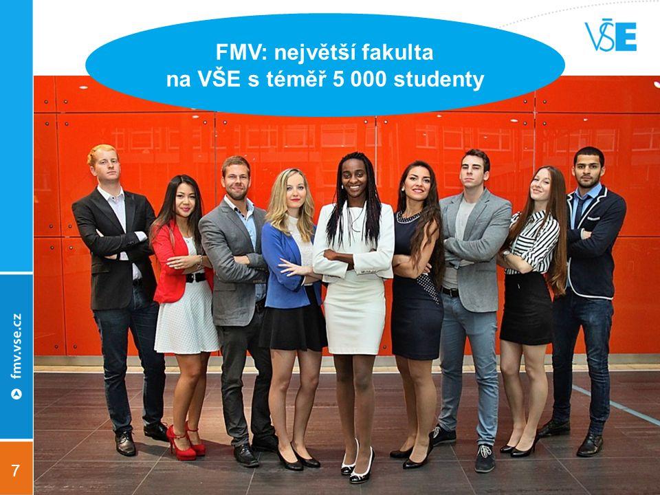 7 FMV: největší fakulta na VŠE s téměř 5 000 studenty