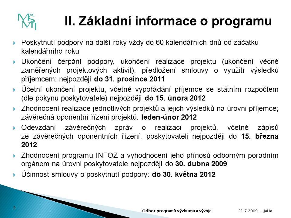  Použití podpory Pořízený informační zdroj musí sloužit pouze k primárním činnostem (bod 3.1.1.