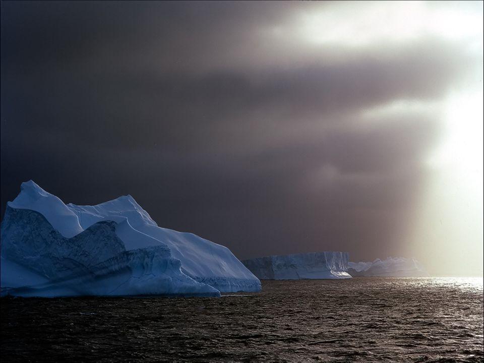 Antarktida má nejnižší teploty na naší planetě, dosahující - 70° C, s větry až 300 km v hodině.