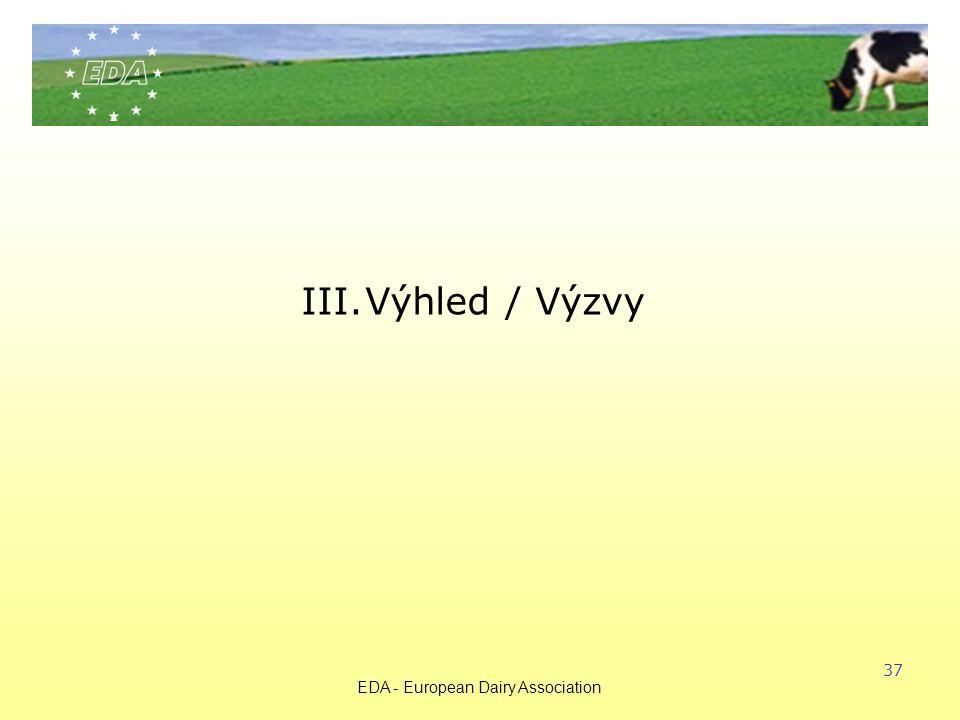 EDA - European Dairy Association 37 III.Výhled / Výzvy