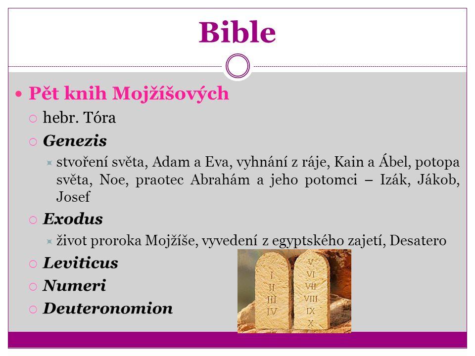 Bible Pět knih Mojžíšových  hebr.