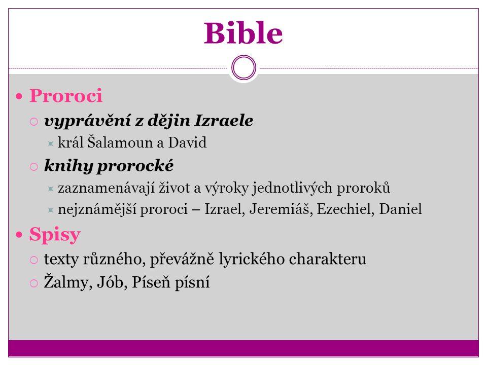 Bible – samostatná práce 1.Opište si a vysvětlete biblismy ze Starého zákona.