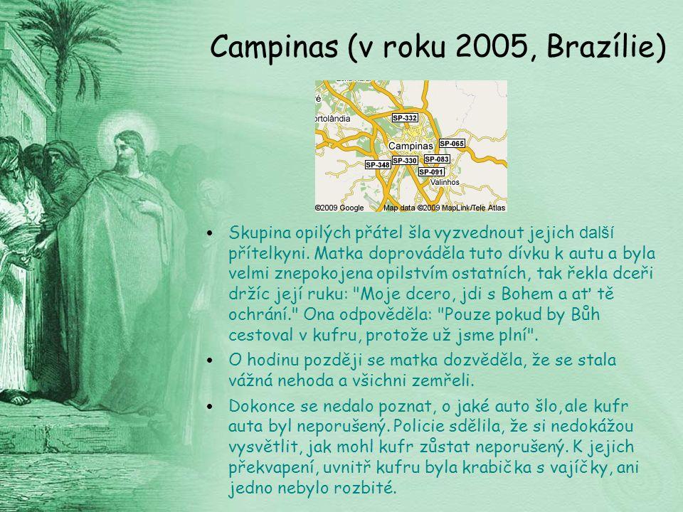Campinas (v roku 2005, Brazílie) Skupina opilých přátel šla vyzvednout jejich další přítelkyni.