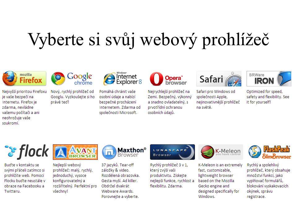 Vyberte si svůj webový prohlížeč