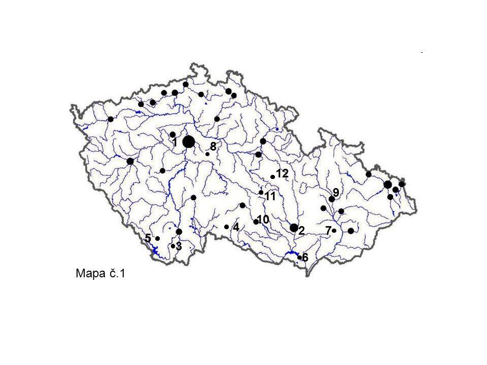 1 2 5 4 3 8 7 6 9 11 12 Mapa č.1