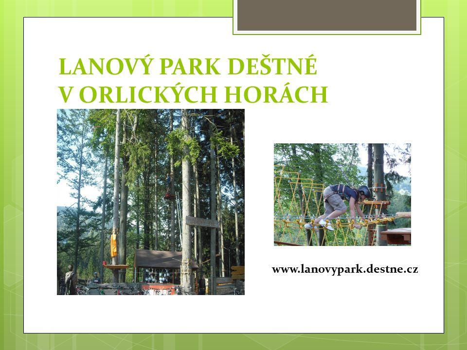 LANOVÝ PARK DEŠTNÉ V ORLICKÝCH HORÁCH www.lanovypark.destne.cz