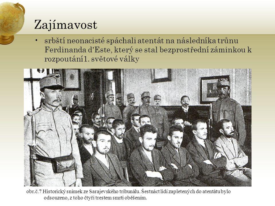 Zajímavost srbští neonacisté spáchali atentát na následníka trůnu Ferdinanda d Este, který se stal bezprostřední záminkou k rozpoutání1.
