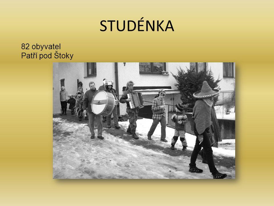 STUDÉNKA 82 obyvatel Patří pod Štoky