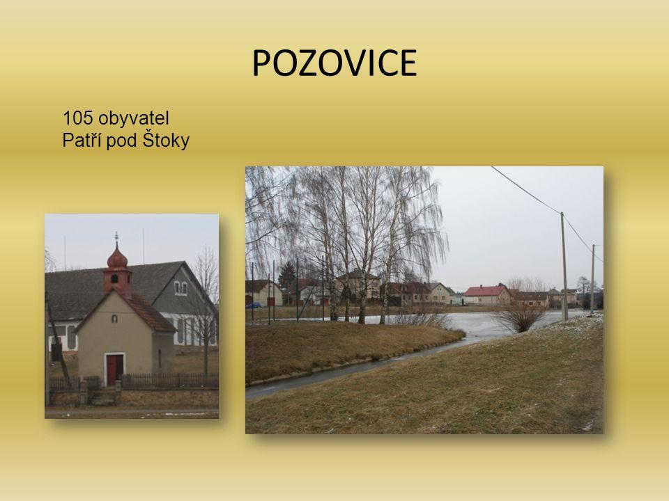 POZOVICE 105 obyvatel Patří pod Štoky