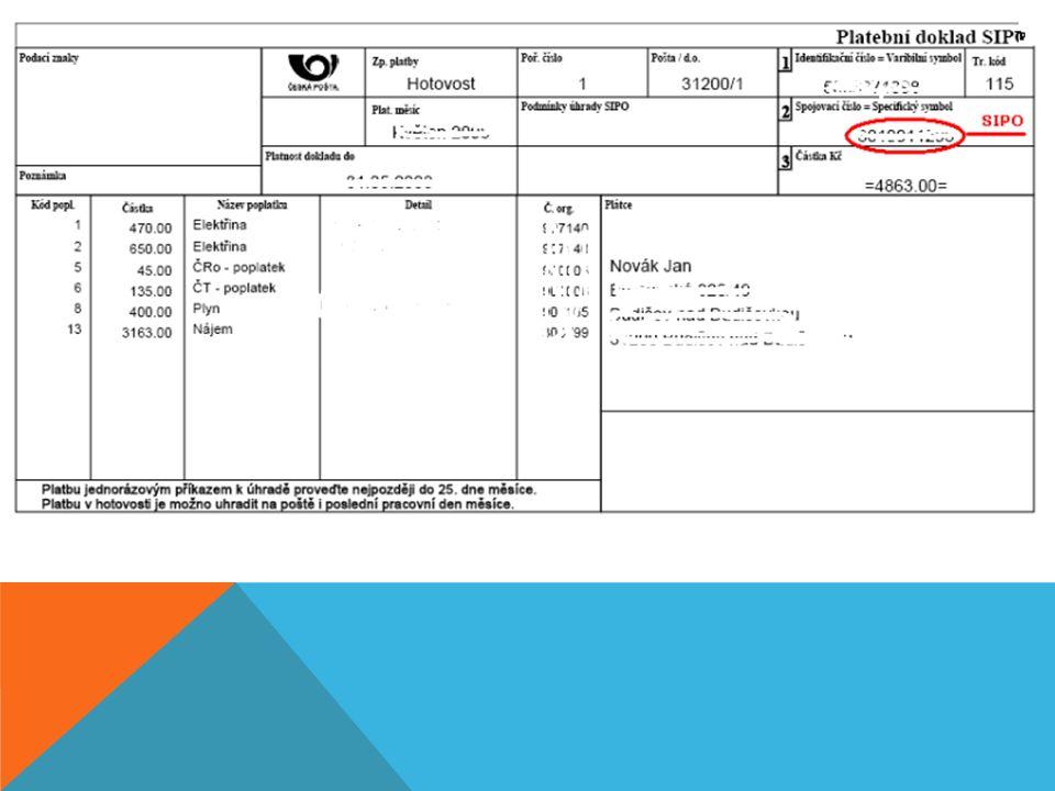 PLATEBNÍ KARTA -umožňuje vybírat hotovost z bankomatů, platit bezhotovostně pomocí platebních terminálů v obchodech, hotelech a restauracích -může ji vlastnit každý, kdo je majitelem účtu v bance -druhy: 1)DEBETNÍ – umožňuje nám využívat dostupných finančních prostředků, které máme na účtu 2)KREDITNÍ – úvěrová, umožňuje nám v případě potřeby čerpat úvěr, nečerpáme peníze z našeho účtu, ale peníze banky -základním ochranným prvkem každé platební karty je její číslo, na zadní straně má instalován magnetický proužek, na kterém jsou uložena podstatná data -na kartách je umístěn ještě jeden dodatečný prvek - Card Verification Value/Card Verification Code (CVV/CVC) = číslo, které je na kartách MasterCard, Visa a Discover umístěno na zadní straně u podpisového vzoru (užívá se pro zvýšení ochrany před zneužitím při elektronickém převodu peněz)