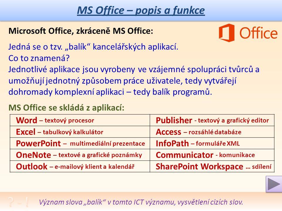 Projekt MŠMTEU peníze středním školám Název projektu školyICT do života školy Registrační číslo projektuCZ.1.07/1.5.00/34.0771 ŠablonaIII/2 Sada 32 AnotacePrincip a dělení sítí, jejich podstata, vlastnosti a použití Klíčová slovaOffice, kancelářské aplikace, Word, Excel, Power Point, Open Office PředmětInformační a komunikační technologie Autor, spoluautorIng.