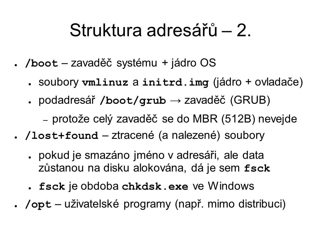 Struktura adresářů – 2.