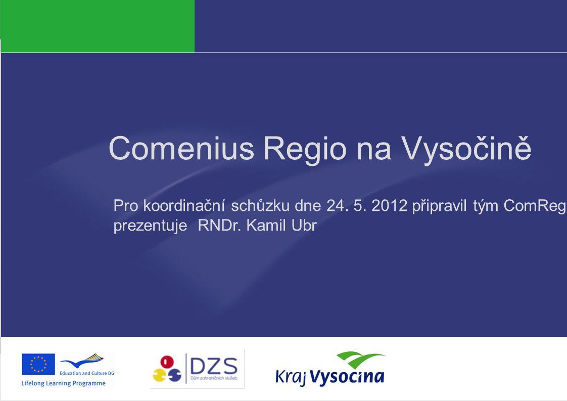 PREZENTUJÍCÍ Comenius Regio na Vysočině Pro koordinační schůzku dne 24.
