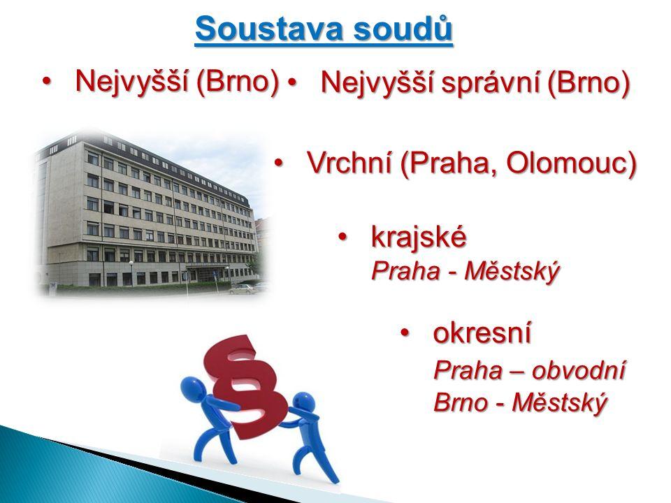 Ústavní soud  zvláštní postavení  ochrana lidských práv a svobod práv a svobod  ochrana ústavnosti  15 ústavních soudců  Brno  na 10 let