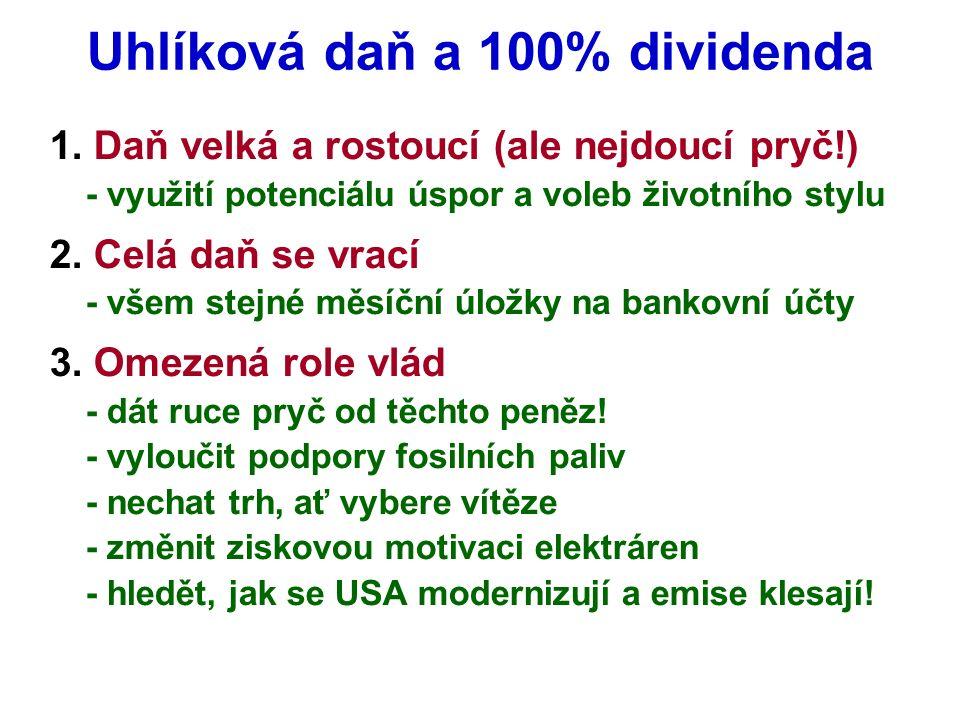 Uhlíková daň a 100% dividenda 1.