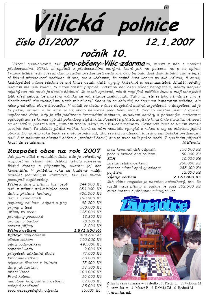 Vilická polnice číslo 01/2007 12.1.2007 ročník 10.
