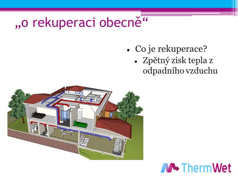 """""""o rekuperaci obecně Co je rekuperace Zpětný zisk tepla z odpadního vzduchu"""