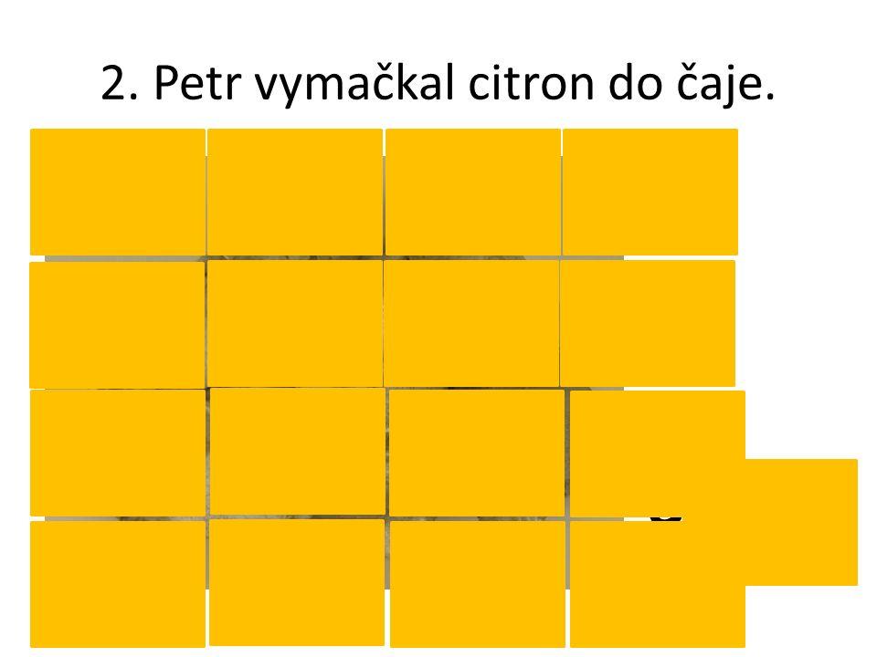 2. Petr vymačkal citron do čaje. CaCO 3