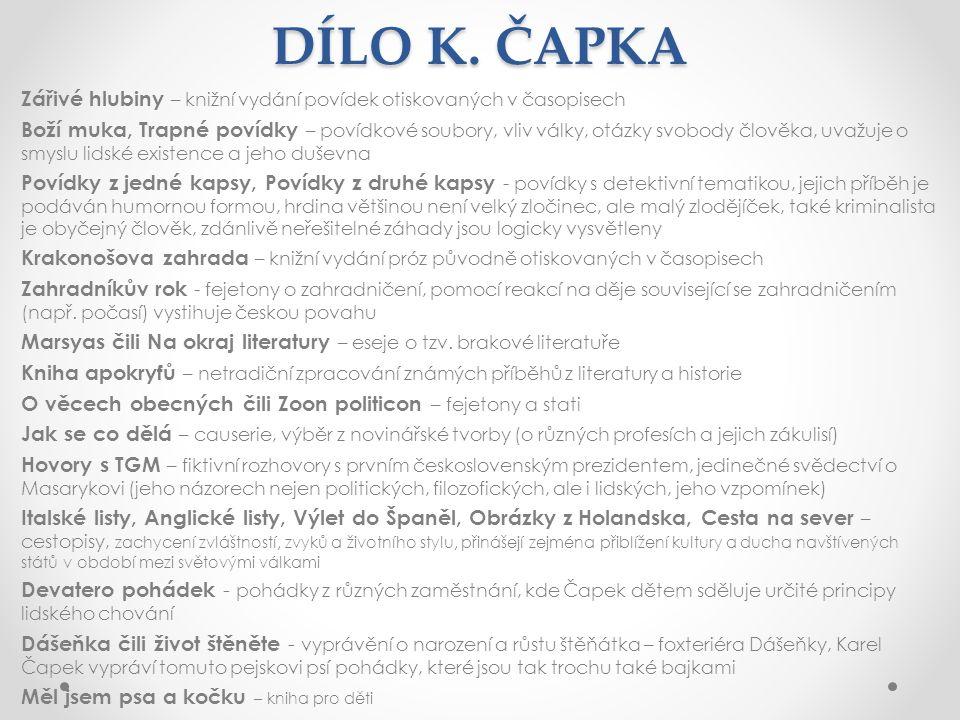 DÍLO K.